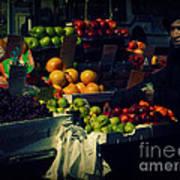 The Fruit Seller - New York City Street Scene Poster