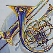 The Glow Of Brass Poster by Jenny Armitage