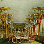 The Gothic Dining Room At Carlton House Poster