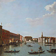 The Grand Canal And San Geremia, Venice, 18th Century Poster