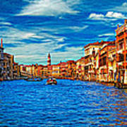 The Grand Canal Impasto Poster
