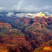 The Grand Canyon After The Storm Poster