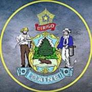 The Great Seal Of The State Of Maine  Poster