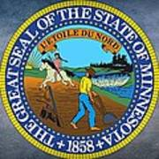 The Great Seal Of The State Of Minnesota Poster