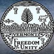 The Great Seal Of The State Of Vermont Poster