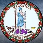 The Great Seal Of The State Of Virginia  Poster