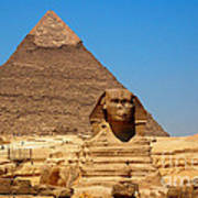 The Great Sphinx Of Giza And Pyramid Of Khafre Poster