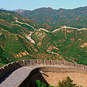 The Great Wall At Badaling In Beijing Poster