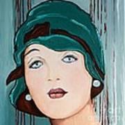 Green Cloche Poster