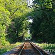 The Green Line Railroad Track Art Poster