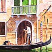 The Green Shutters - Venice Poster