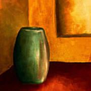 The Green Urn Poster by Brenda Bryant