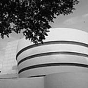 The Guggenheim Museum In Black And White Poster
