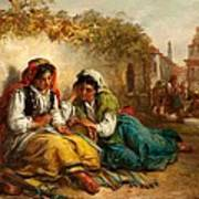 The Gypsies Poster by Thomas Kent Pelham
