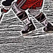 The Hockey Player Poster by Karol Livote
