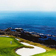 The Hole 7 At Pebble Beach Golf Links Poster