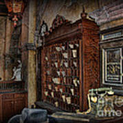 The Hollywood Roosevelt Hotel Reception Desk - Haunted Poster by Lee Dos Santos