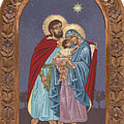 The Holy Family For The Holy Family Hospital Of Bethlehem With Frame Poster