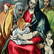 The Holy Family With St Elizabeth Poster