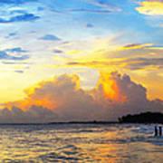 The Honeymoon - Sunset Art By Sharon Cummings Poster