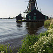 The Iconic Windmills Of  Holland  Poster