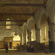The Interior Of The Bakenesserkerk. Haarlem Poster