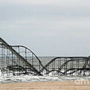 The Jetstar Rollercoaster In Seaside Heights Nj Poster by Living Color Photography Lorraine Lynch