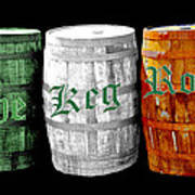 The Keg Room Irish Flag Colors Old English Hunter Green Wave Poster