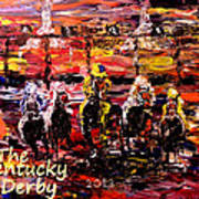 The Kentucky Derby - And They're Off  Poster