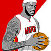 The King Lebron James Poster by Paul Dunkel
