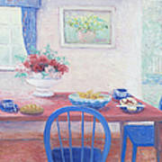 The Kitchen Table Laid For Lunch Poster