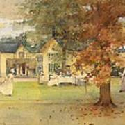 The Lawn Tennis Party Poster by Arthur Melville
