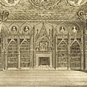 The Library, Engraved By Godfrey Poster