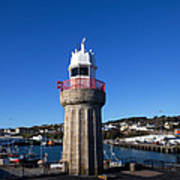 The Lighthouse And Fishing Harbour Poster