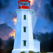 The Lighthouse At Peggys Cove Poster