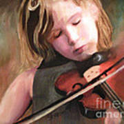 The Little Violinist Poster by Sharon Burger