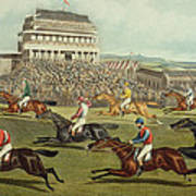 The Liverpool Grand National Steeplechase Coming In Poster by Charles Hunt and Son