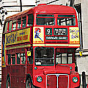 Vintage London Bus Poster