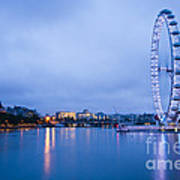 The London Eye Dawn Light Poster by Donald Davis