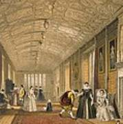 The Long Gallery At Lanhydrock Poster