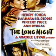 The Long Night, Us Poster, Barbara Bel Poster