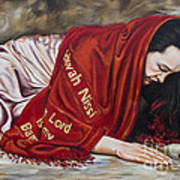 The Lord Is My Banner Yahweh Nissi Poster by Ilse Kleyn