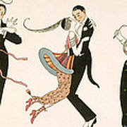 The Madness Of The Day Poster by Georges Barbier