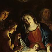 The Madonna Adoring The Infant Christ Poster by Pietro Antonio Rotari