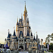 The Magic Kingdom Castle On A Beautiful Summer Day Poster
