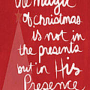 The Magic Of Christmas- Greeting Card Poster