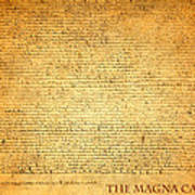 The Magna Carta 1215 Poster