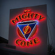 The Mighty Cone Of Austin Texas Poster