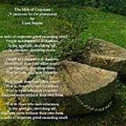 The Mills Of Corporate - Poem And Image Poster