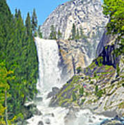 The Mist Trail At Vernal Fall Poster